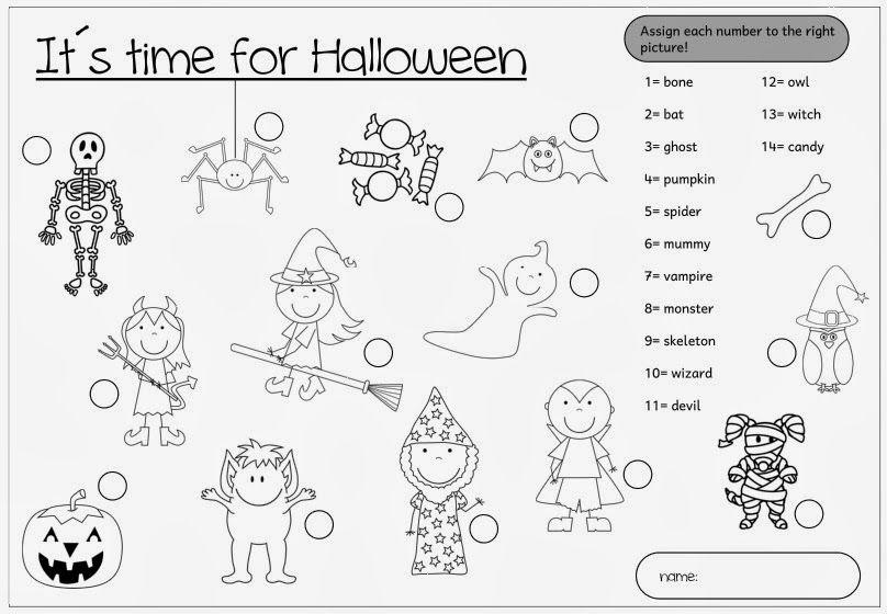 Atemberaubend Halloween Aktivitäten Für Die 3. Klasse Zeitgenössisch ...