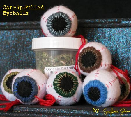 Catnip-filled eyeballs