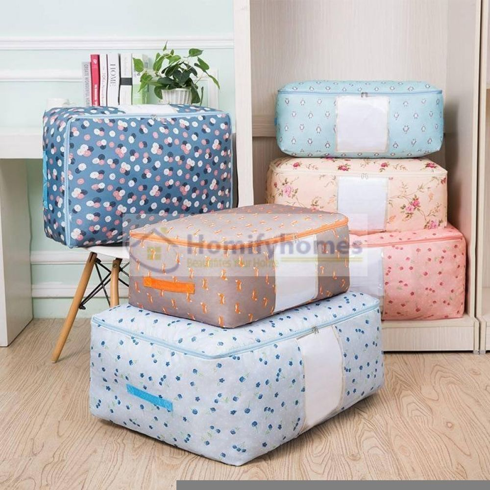 New Waterproof Portable Clothes Storage Bag In 2020 Storage Bags For Clothes Quilt Storage Storage Bags Organization