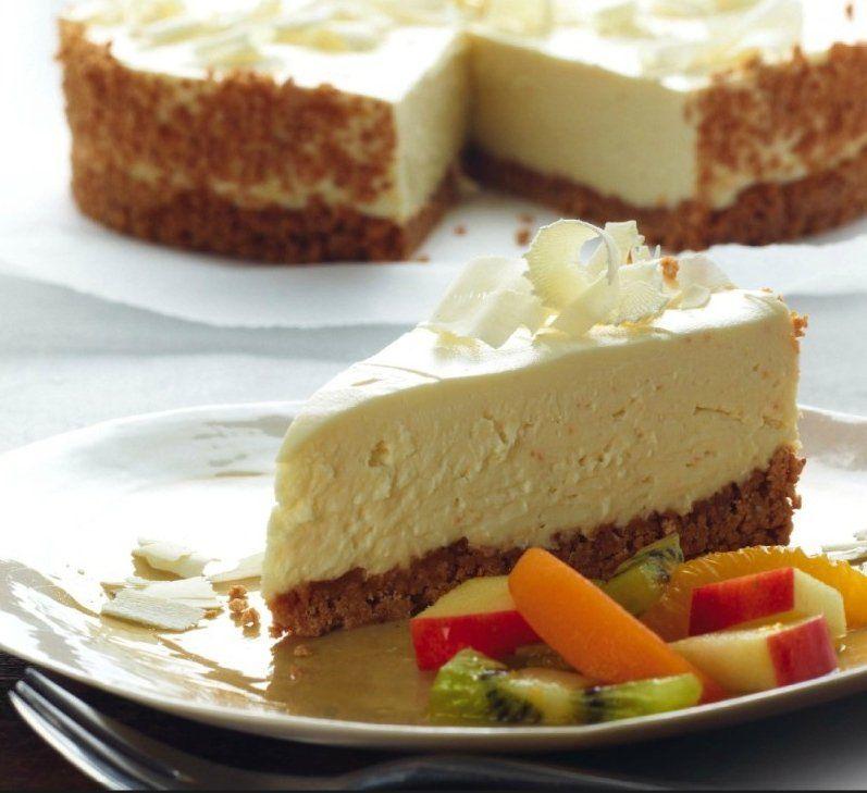 Cheesecake au chocolat blanc (sans cuisson) Recette | Dr ...