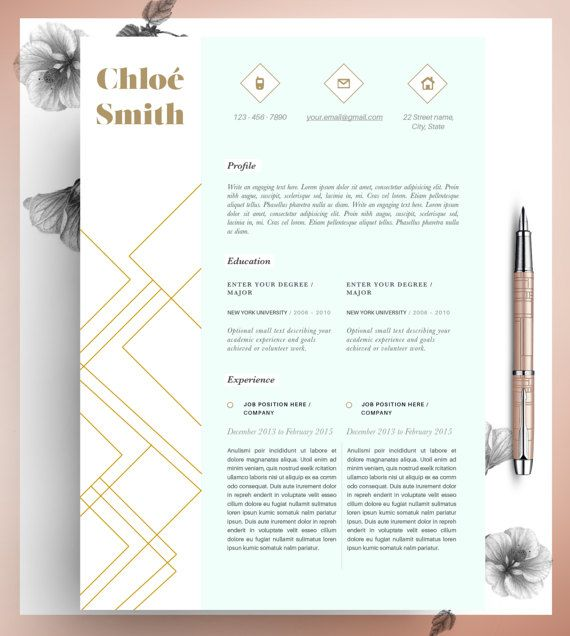 Creative Professional Resume Template, CV Template Editable in MS ...