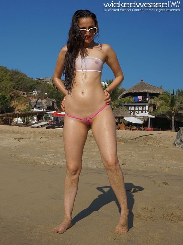 Some Of The Wicked Weasel Bikini Strings Are So Tiny And See Through When Wet Like These