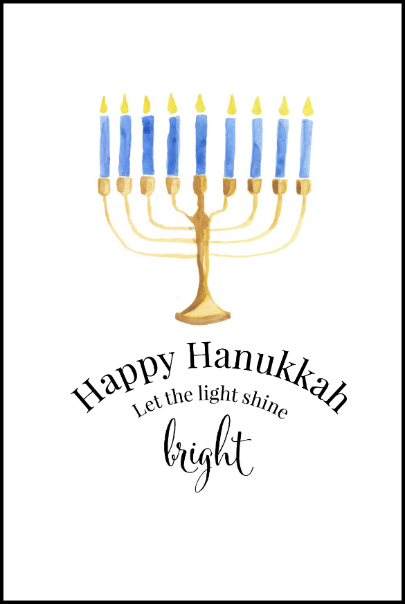image relating to Free Printable Hanukkah Cards identified as Hanukkah Chanukah Totally free Printables Upon Sutton House
