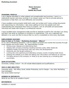 Marketing Assistant Resume Marketing Assistant Cv Example  Cv  Pinterest  Cv Examples