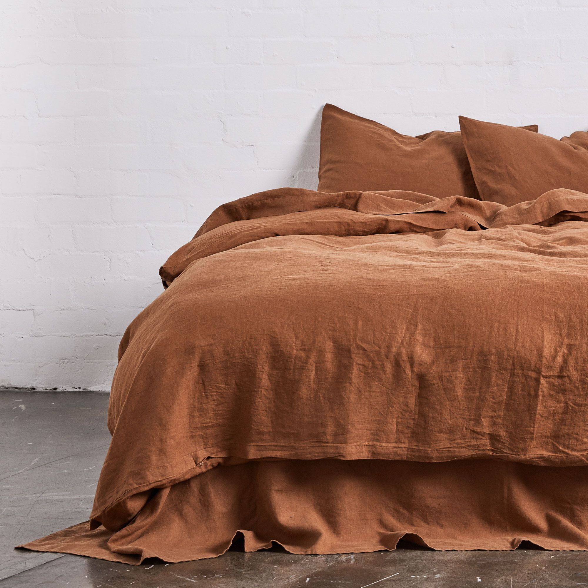 100 Linen Duvet Set In Tobacco Bed Linens Luxury Luxury Bedding Linen Duvet Covers