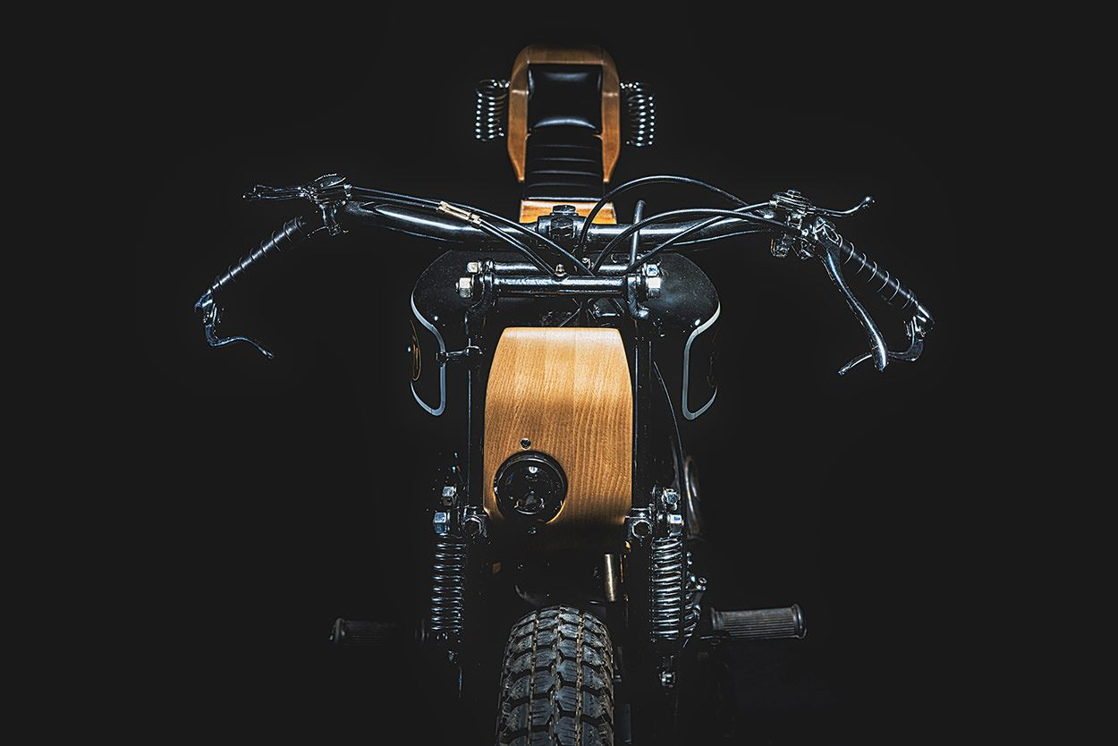 Against The Grain A Fabrique Nationale With Wood Trim Bike Exif Wood Trim Custom Motorcycles