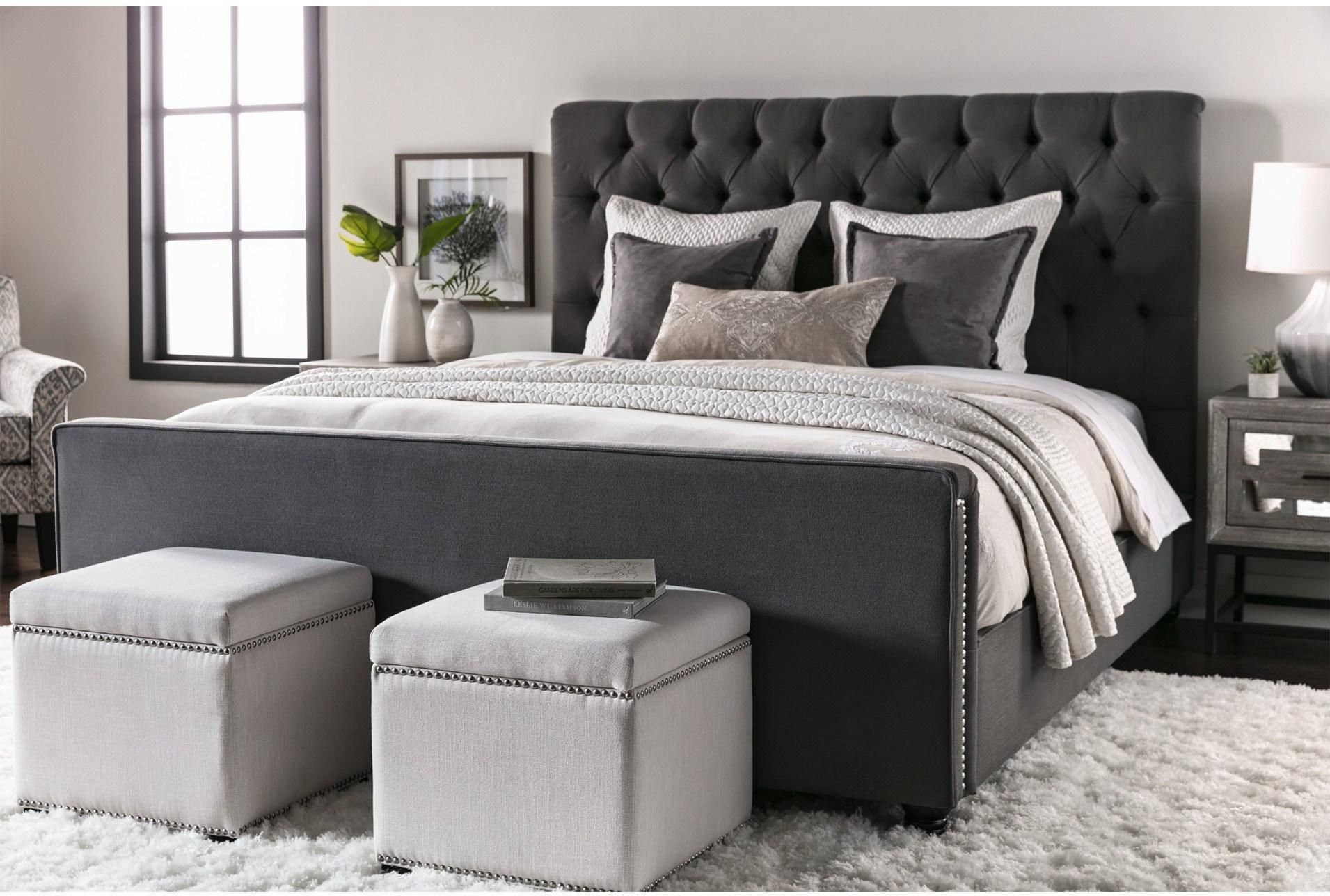 Leighton California King Upholstered Panel Bed(이미지 포함)