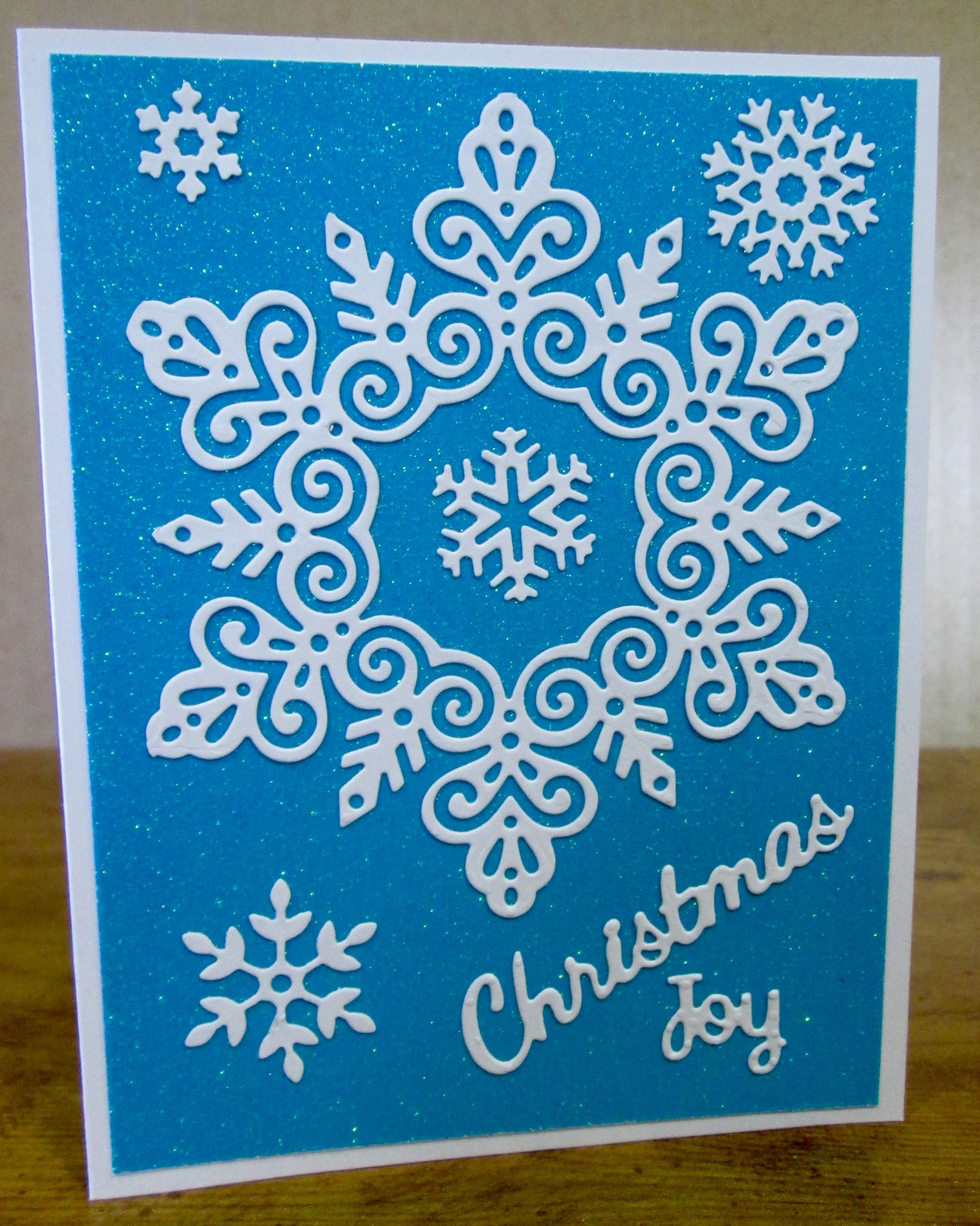 SMS - Simply Defined Blue and White Snowflake Christmas Card   Donna ...
