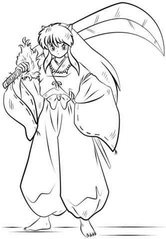 Inuyasha Dibujo Para Colorear Inuyasha Dibujos Paginas Para Colorear Dibujo A Lapiz Anime