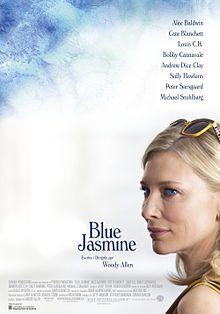 "Pòster de ""Blue Jasmine"" (2013), amb Cate Blanchett com a protagonista."