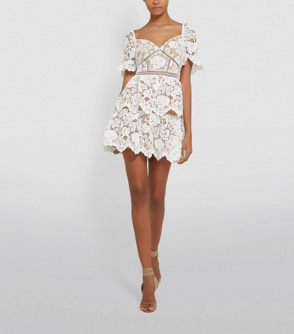 Self Portrait Lace Mini Dress We Select Dresses White Lace Mini Dress Mini Dress Select Dress [ 1136 x 1000 Pixel ]