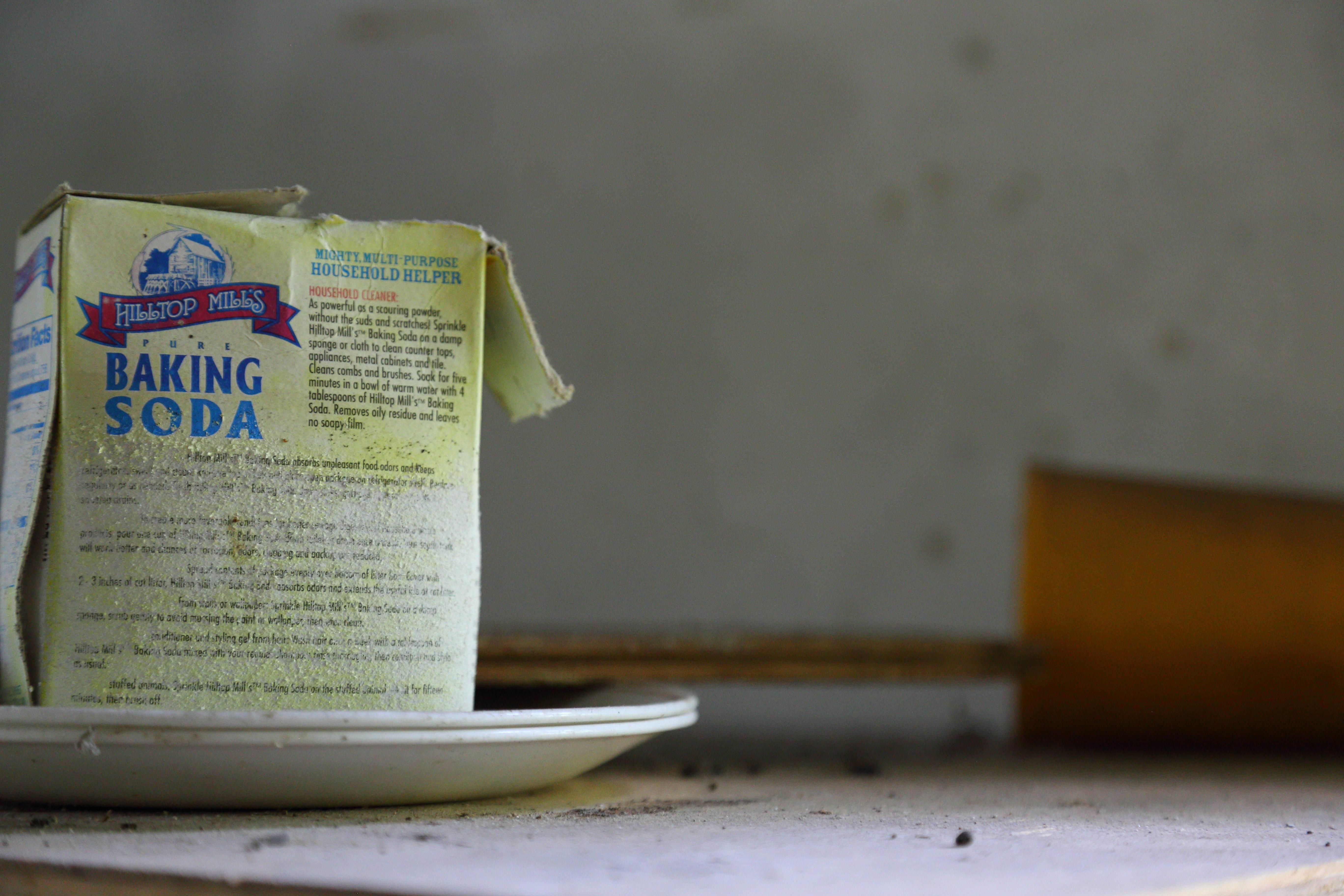 Oc old baking soda package in abandoned house in southern tn