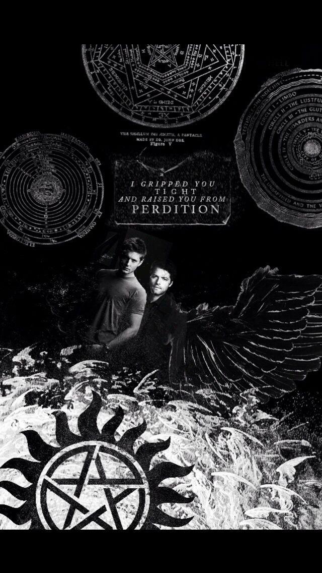Castiel and Dean Wallpaper Supernatural Imagens
