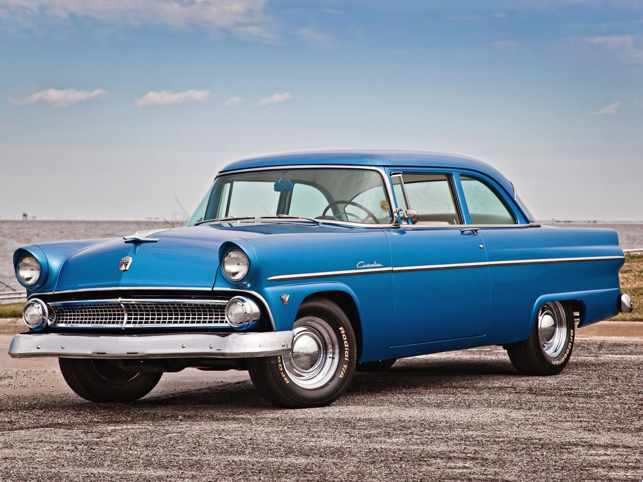 1955 Ford Customline 2 Door Hardtop Mecumhouston Mecum Auto Coupe Suspension