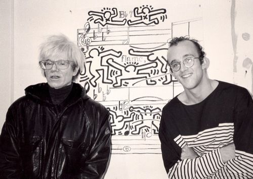 af48e7afe92 Andy Warhol Keith Harring • 1985   New York