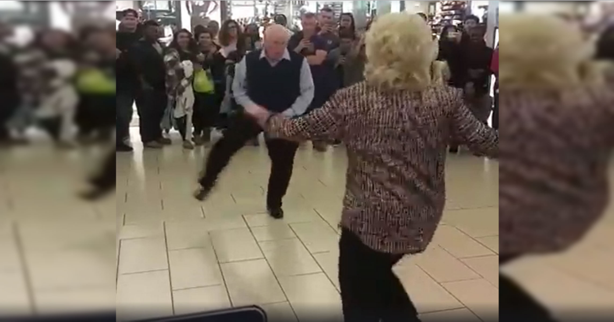 When Bruno Mars Starts Playing, Elderly Couple Steals The Show At The Mall
