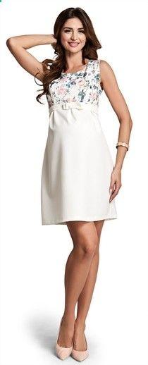 dc74a6eb70b Romance коктейльное платье в цветочный узор для беременных