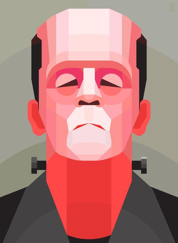 Frankenstein by Jack Daly, via Behance