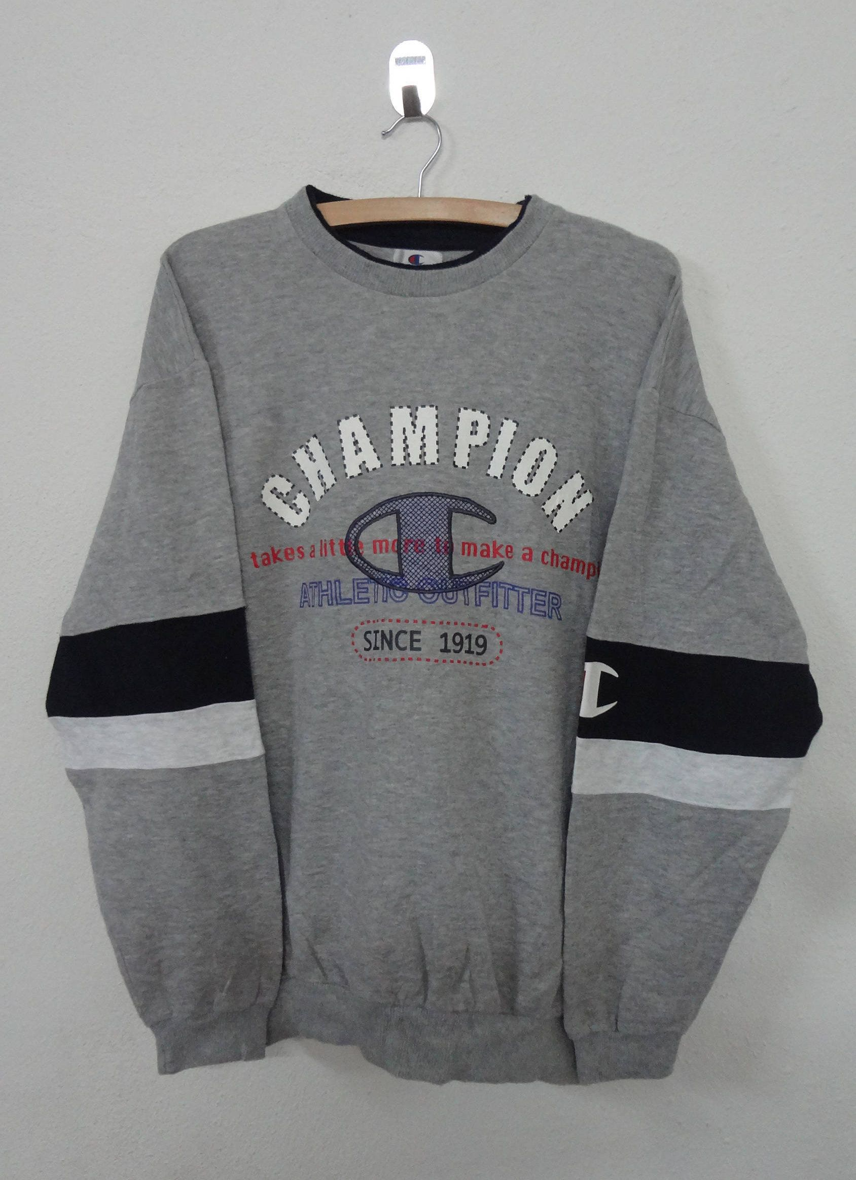 1759a394316 Vintage Champion sweatshirt big logo spellout embroidered large champion  product champion usa by NotreShop on Etsy