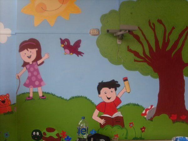 600 450 dibujos guarderia pinterest - Murales para ninos ...