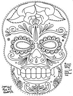 Day Of The Dead Mask Template Google Search
