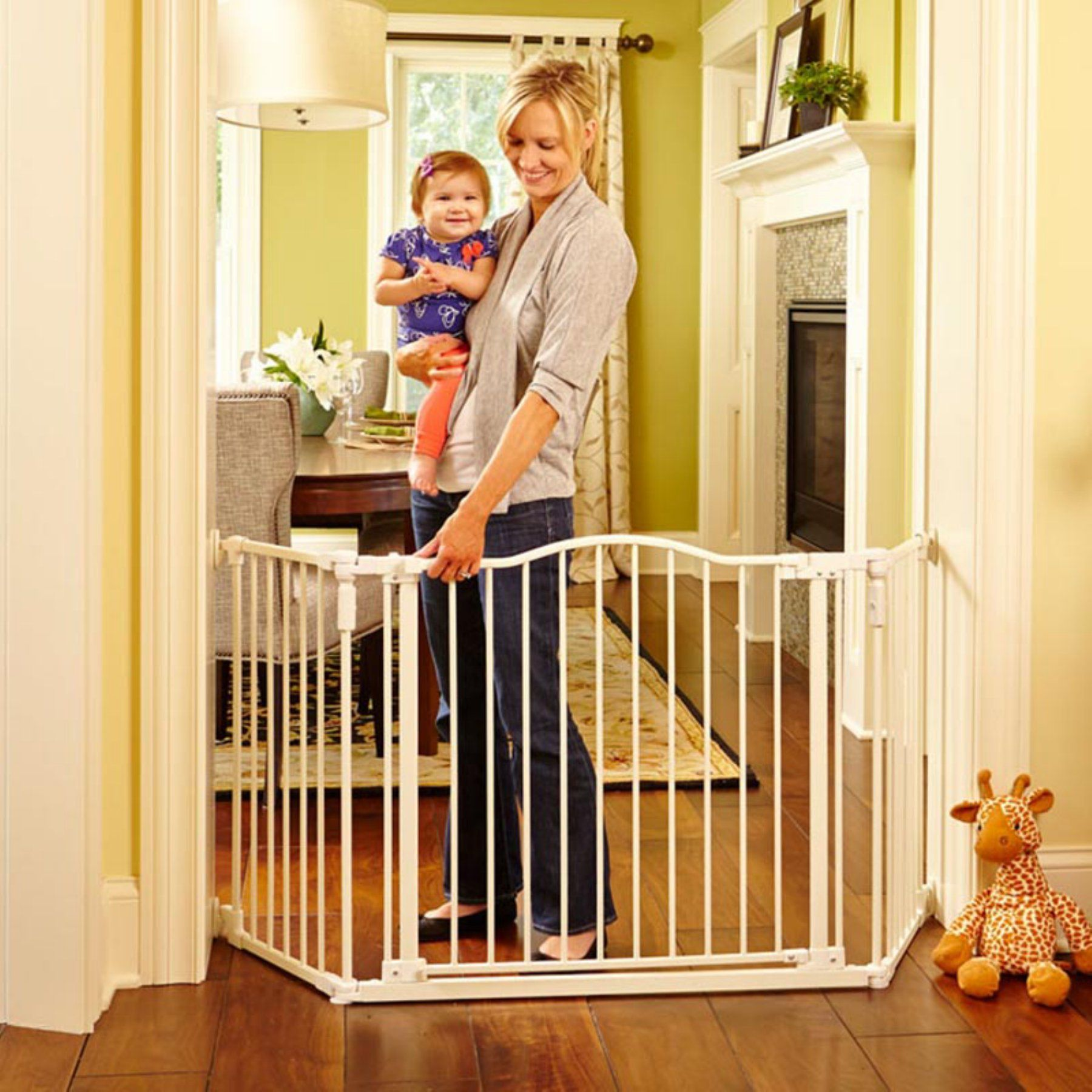 North States Deluxe Decor Gate 4954S Baby gates, Extra