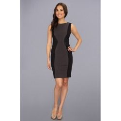 Calvin Klein - Ponte Dress CD3P2E32 (Charcoal Multi) - Apparel - product - Product Review