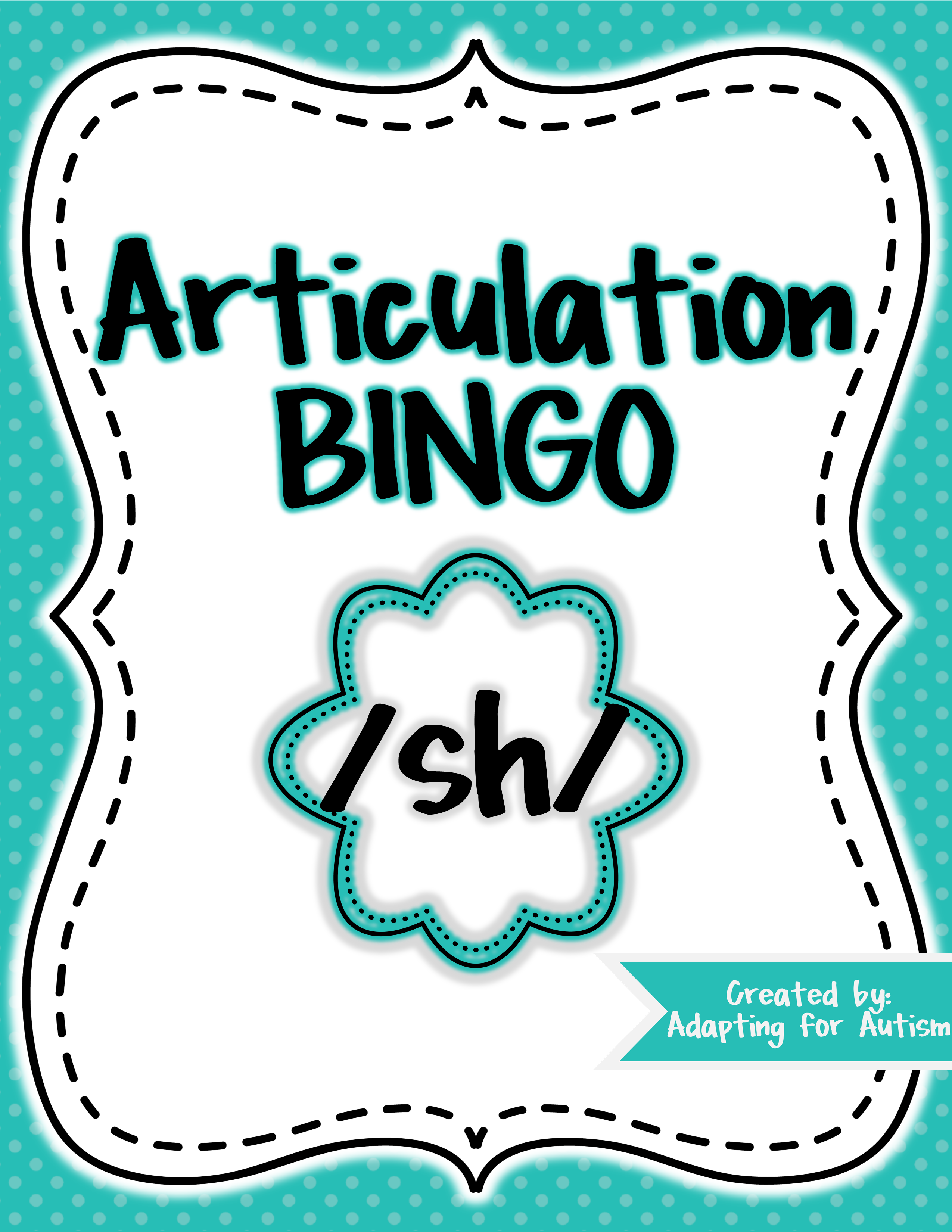 Articulation Game Sh Bingo For Speech Therapy