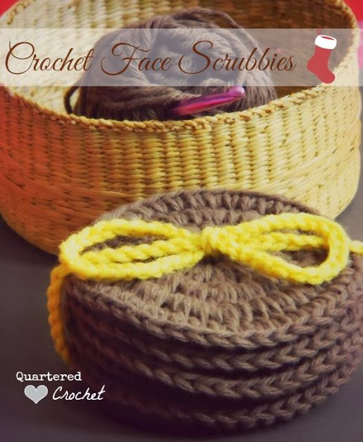 Quartered Heart Crochet: Crochet Christmas Gifts: Crochet Face Scrubbies Free Pattern
