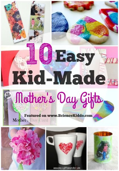Try these 10 kid made Mother's Day gifts that are easy to make and easy on the budget. Moms, grandmas, aunts, and neighbors will love and appreciate the personalized touch of each of these gifts.