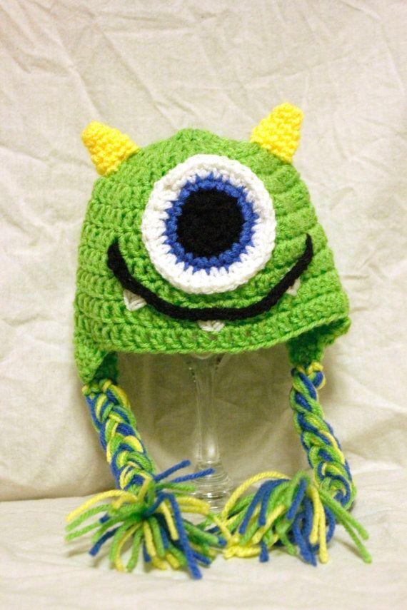 monsters inc crochet hat pattern   Crochet Monster Hat by leslielou22  @Katie Schmeltzer Schmeltzer Bombagetti-Jordan is this what you want?