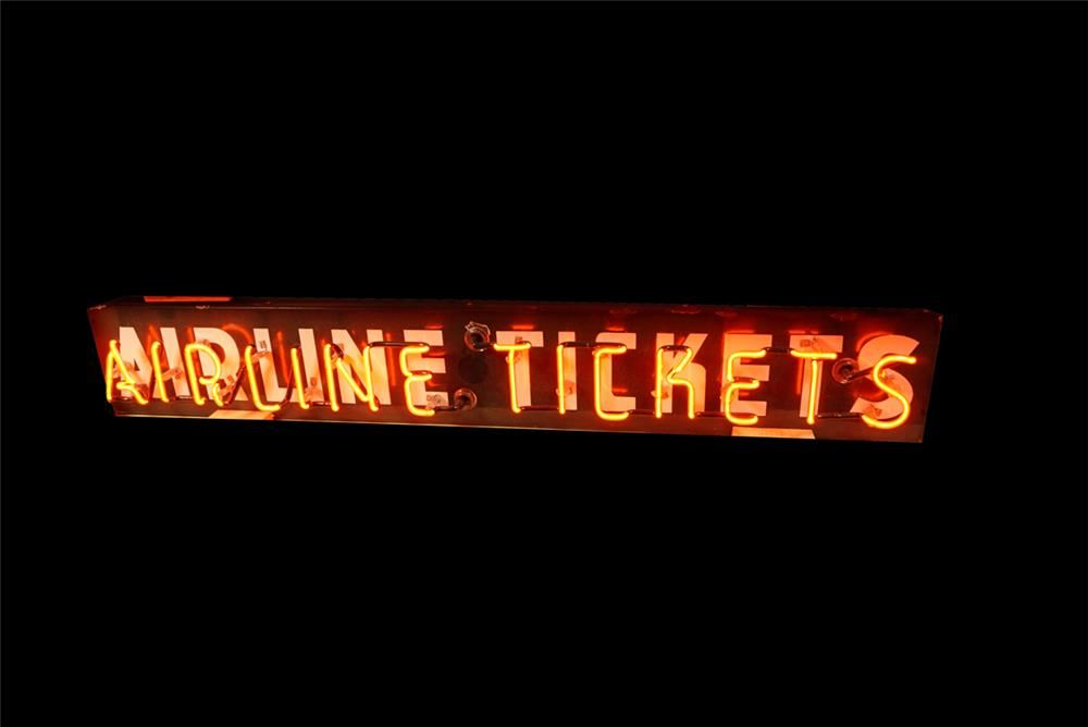 Very Uncommon 1940s Airline Tickets Neon Porcelain Airport - Cargo Verlichting