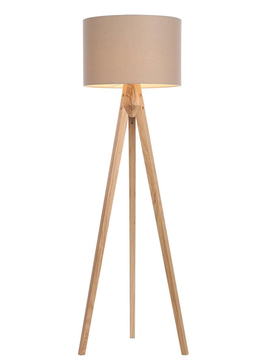 Isaac Tripod Wood Floor Lamp H144cm 125cm X W68cm