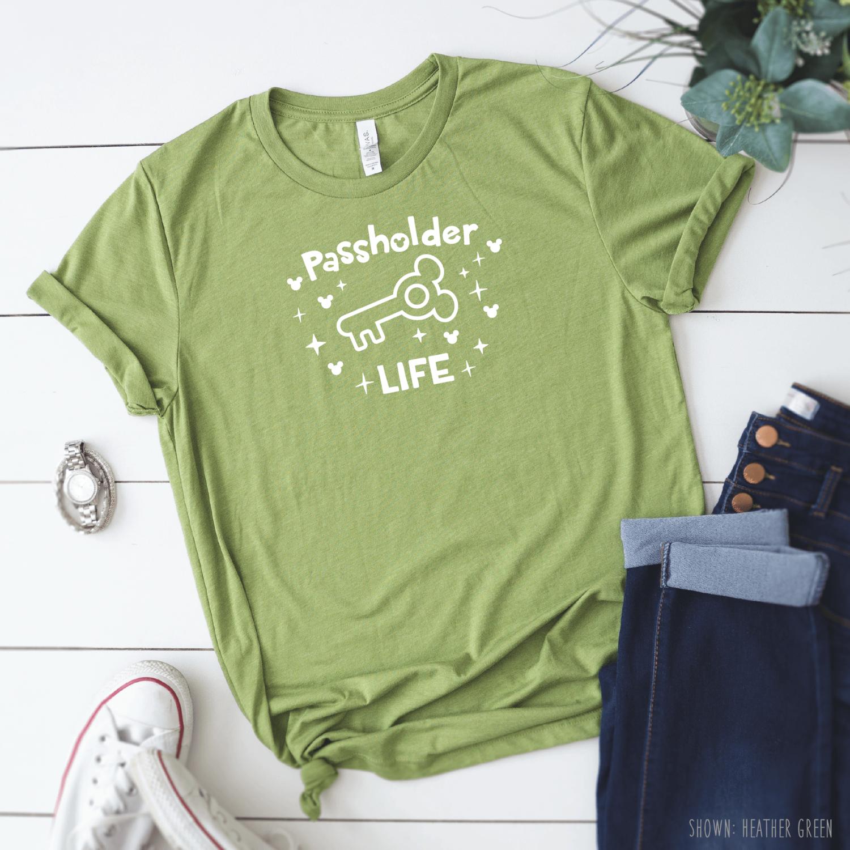 Passholder Life Disney Shirts For Men Women Disney Family Shirts Disney World Jersey Knit Shirt Disney Shirts For Men Disney Shirts For Family Shirts