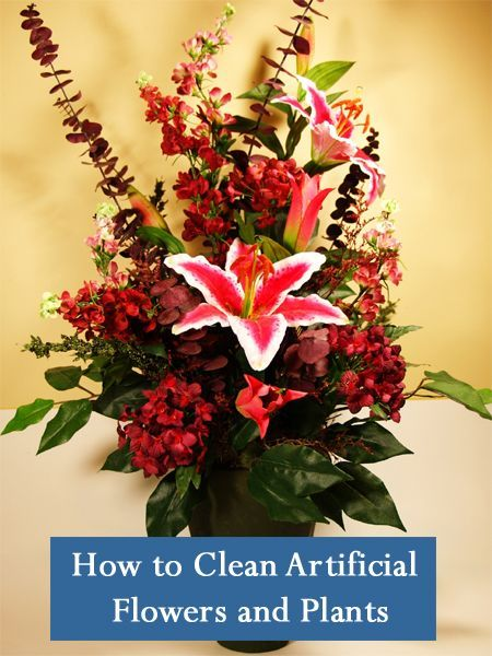 How to clean artificial flowers and plants cleaning pinterest how to clean artificial flowers and plants mightylinksfo