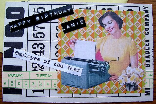 Birthday Bingo Card Collage
