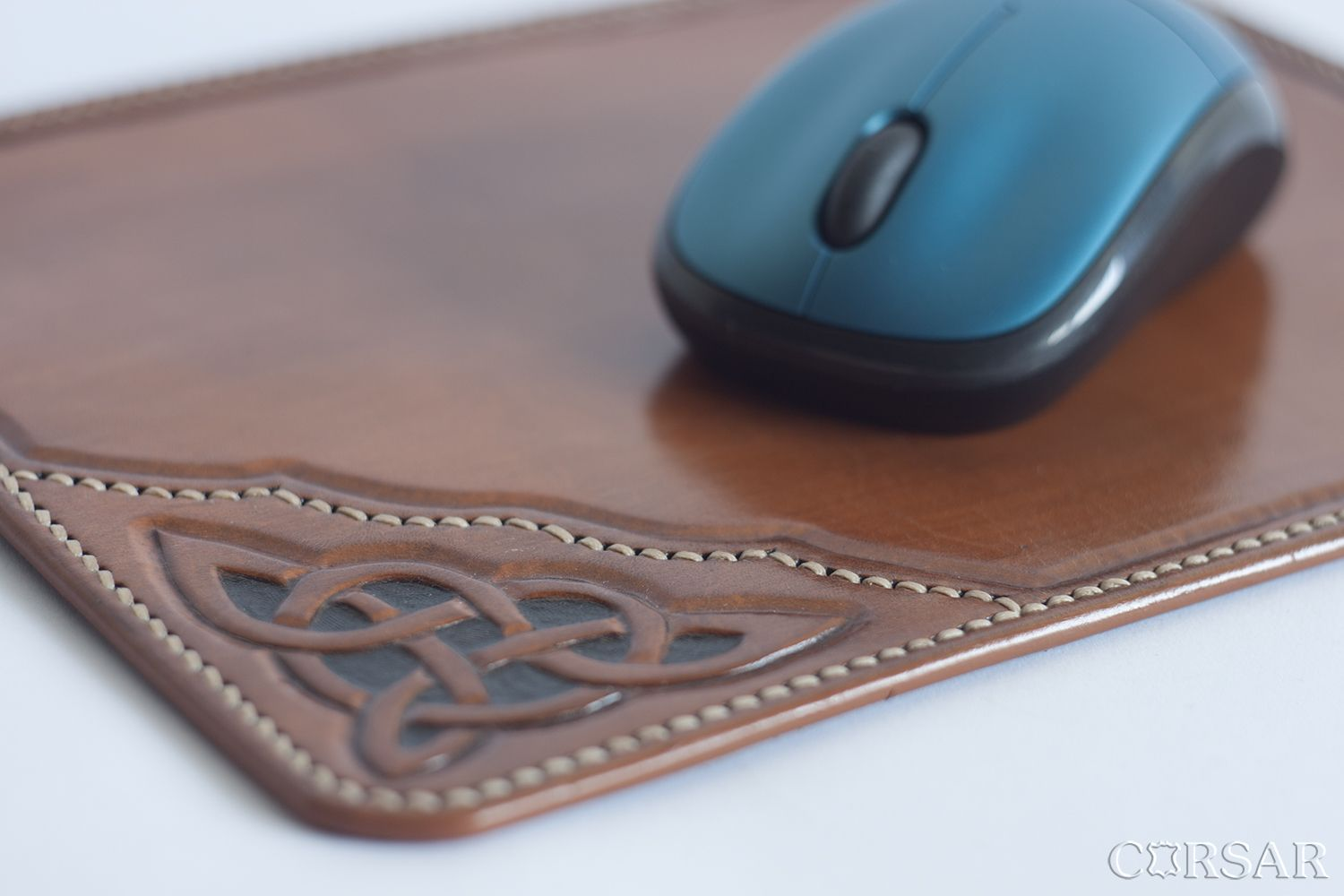 Personalized Gift Leather Handmade Mouse Pad Leather Mat Computer