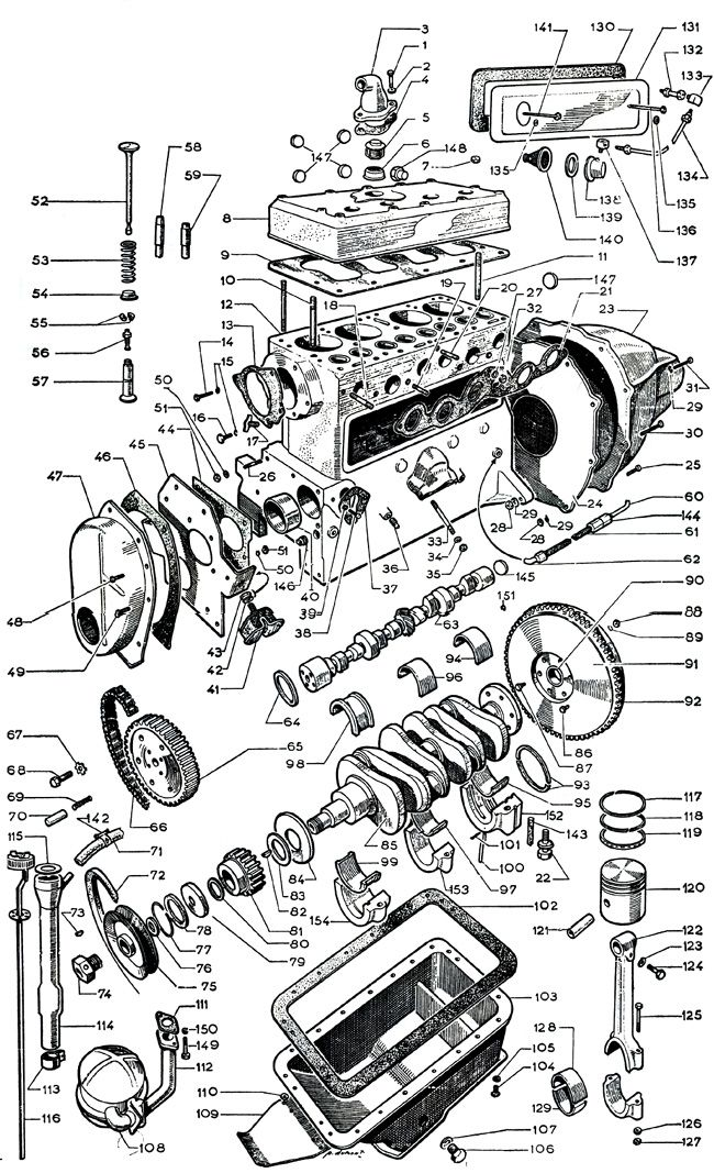 ford schema moteur monophase transmission