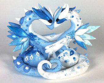 Custom Dragon Wedding Cake Topper Polymer Clay Crafts Polymer Clay Creations Polymer Clay Dragon