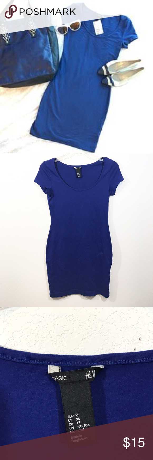 Blue H&M Sexy Bodycon Dress XS H&M Dresses