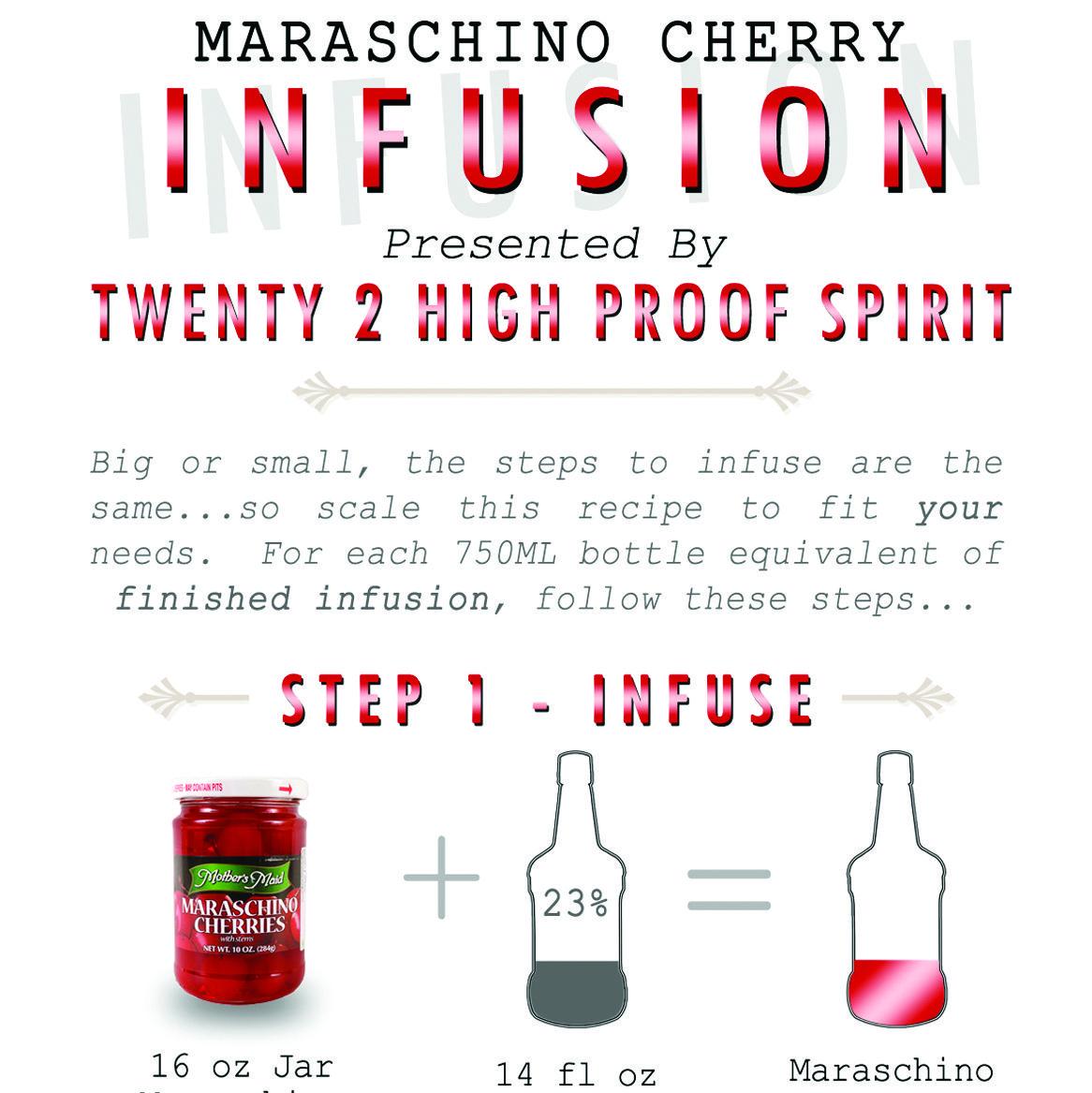 Maraschino Cherry Infused Vodka