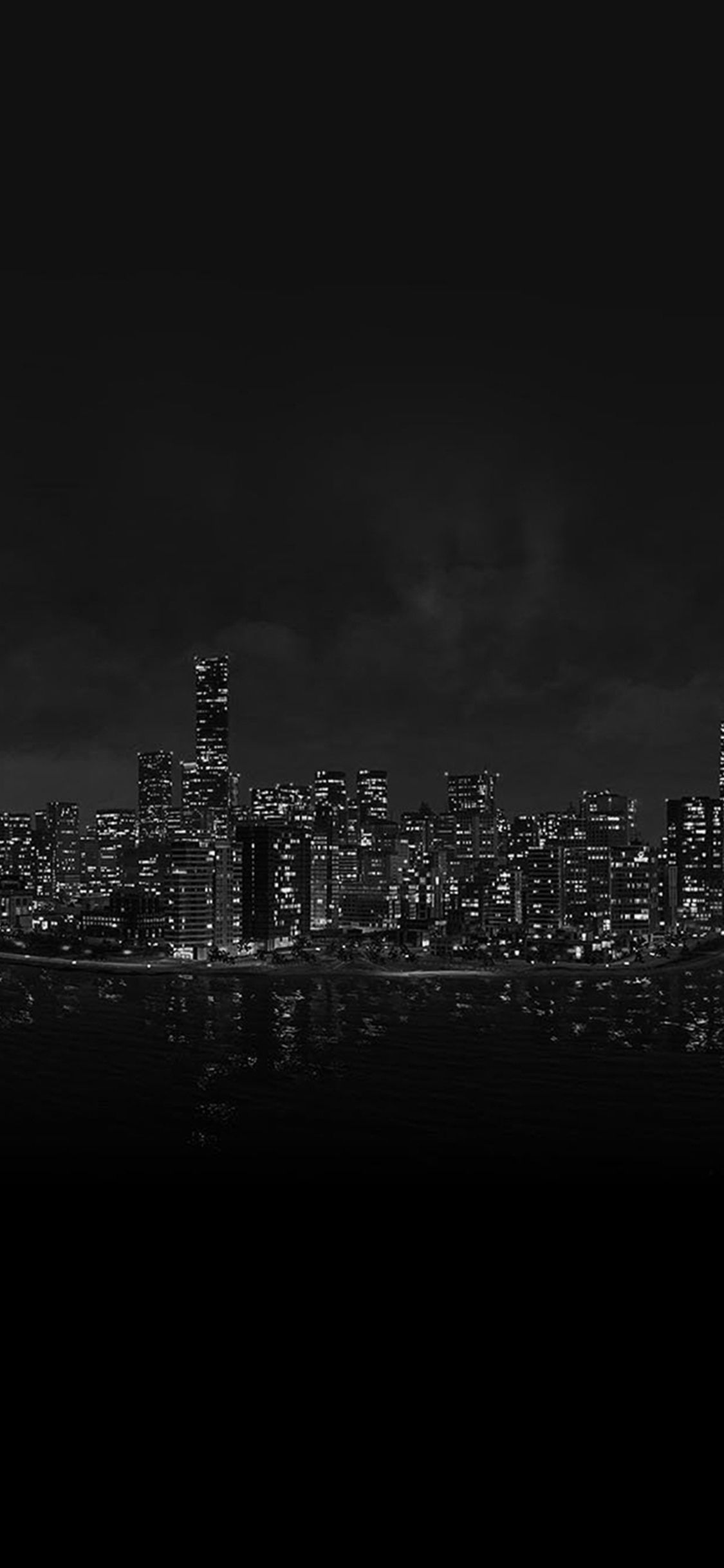 Watchdog Night City Light View From Sea Iphone X Wallpaper City Lights Wallpaper Black Phone Wallpaper Dark Wallpaper