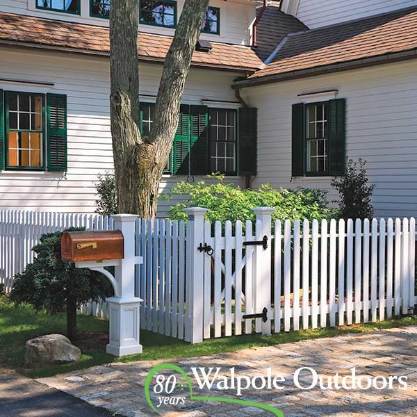Classic Fence Modern Copper Mailbox With Images Walpole
