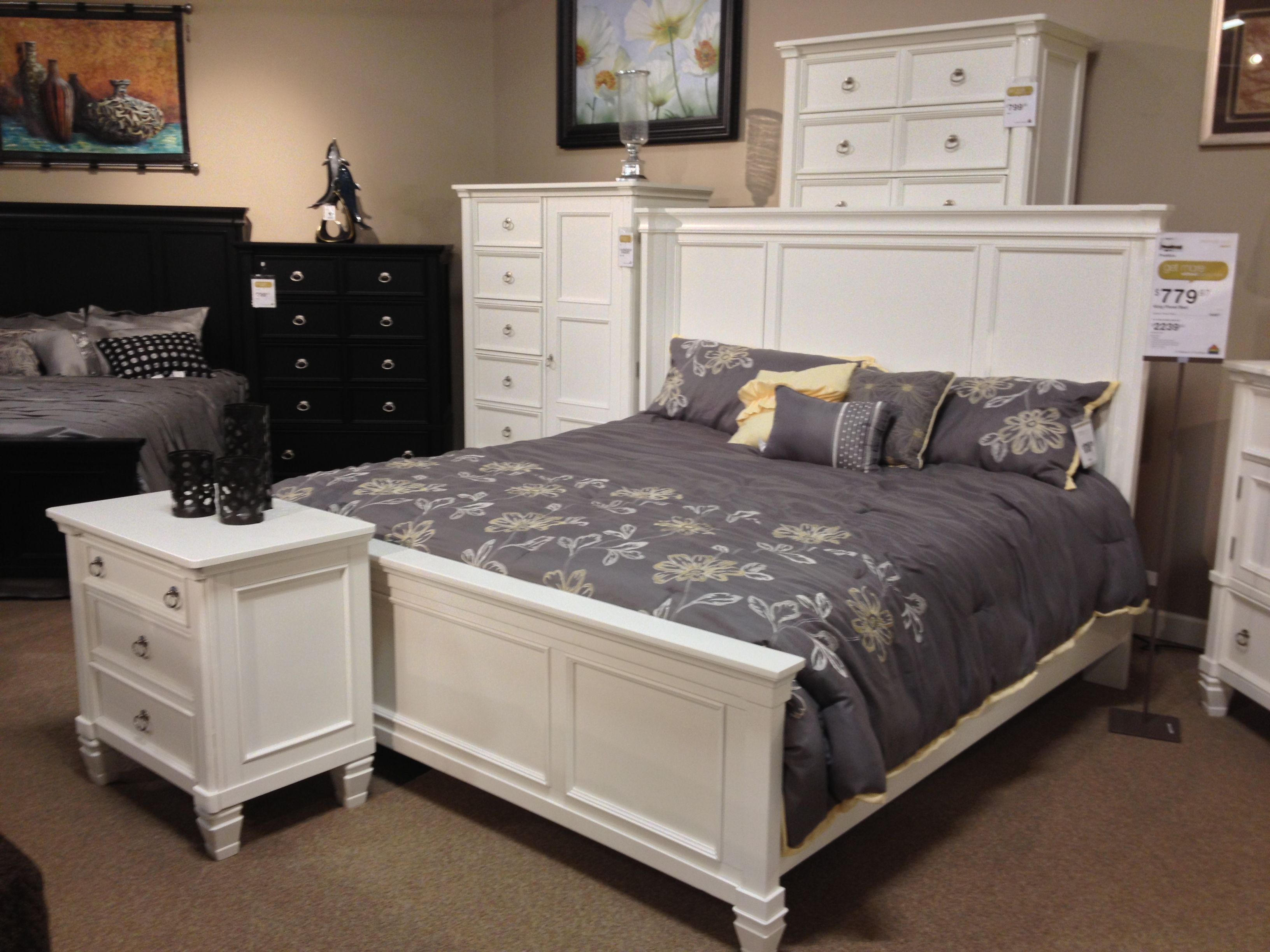 prentice king queen panel bed at ashley furniture in tricities vintage casual pinterest. Black Bedroom Furniture Sets. Home Design Ideas