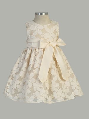 5ced607a5 Flower Embroidered Lace Dress with Removable Sash - Flower Girl ...