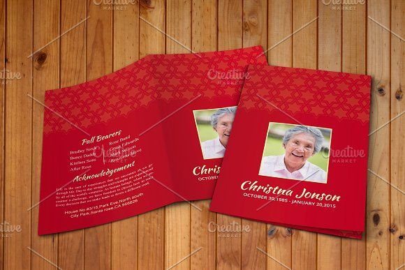 Pin By Barbara Wimer On Funeral Program Template