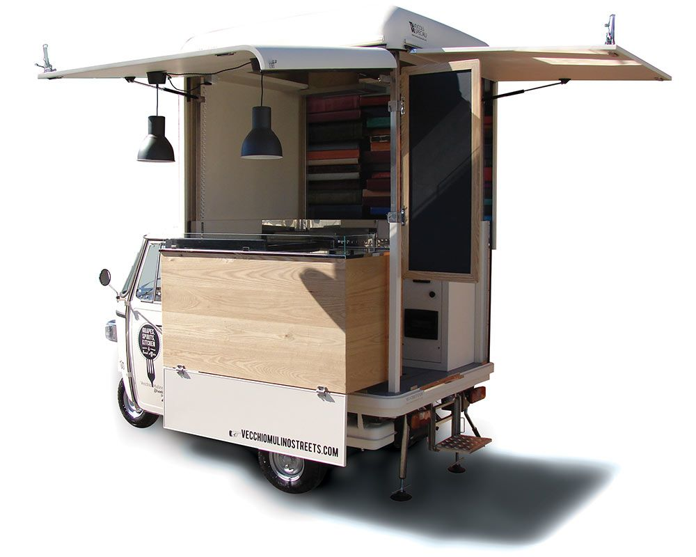 363c7819945e1d Piaggio Ape V-Curve® for Street Food Catering and Vending