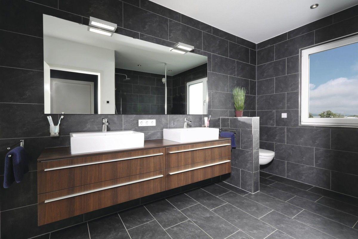 Badezimmerdesign graue fliesen badezimmer fliesen grau  ideen weberhaus city life kundenhaus