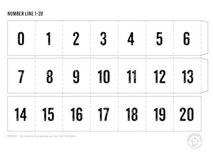 Printable Number Line - Mr Printables | Dibujos | Pinterest ...