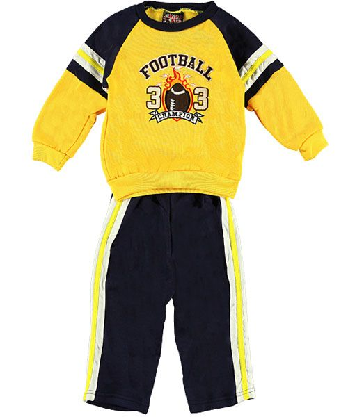 "88cd881f0fe7 Mad Game ""Football Champion 33"" 2-Piece Sweatsuit (Sizes 12M – 24M) -  CookiesKids.com"